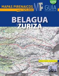 BELAGUA Y ZURIZA - MAPAS PIRENAICOS (1: 25000)