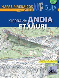 SIERRA DE ANDIA ETXAURI - MAPAS PIRENAICOS (1: 25000)