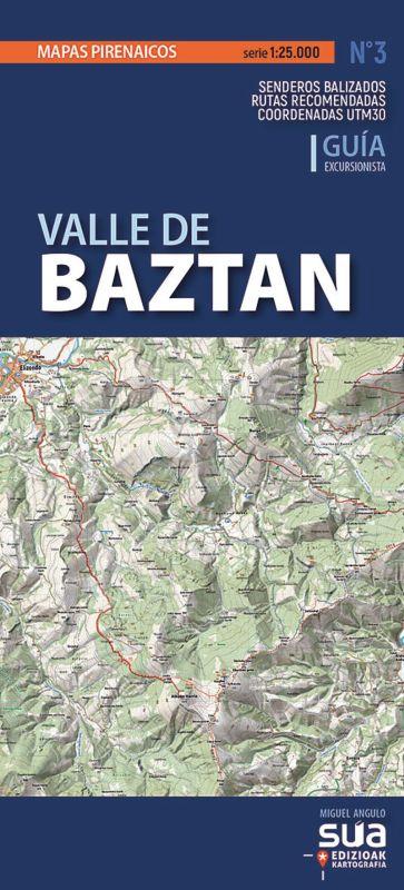 VALLE DE BAZTAN - MAPAS PIRENAICOS